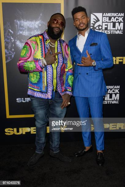 Rick Ross and Trevor Jackson attend Opening Night Screening 'Superfly' at the FIllmore Miami Beach during the 22nd Annual American Black Film...