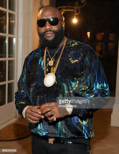 Rick Ross attends Maybach Music Group Presents #BEAUTYANDBELAIRE at Roberts Estate on December 12 2016 in Fayetteville Georgia