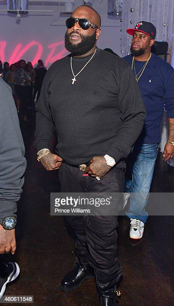 Rick Ross attends SnobLife's Winter Wonderland at The B Loft on December 15 2014 in Atlanta Georgia