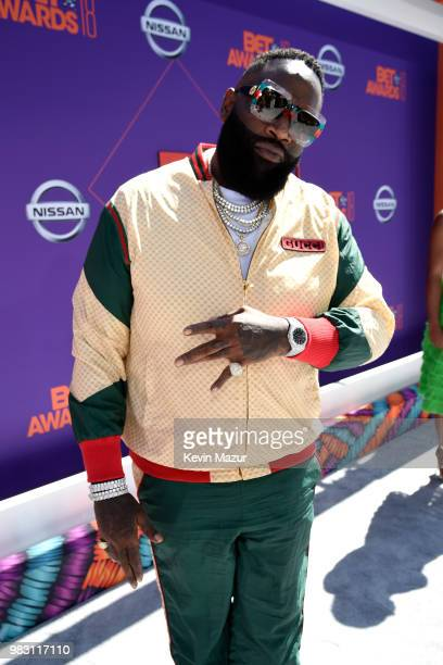 Rick Ross attends the 2018 BET Awards at Microsoft Theater on June 24 2018 in Los Angeles California
