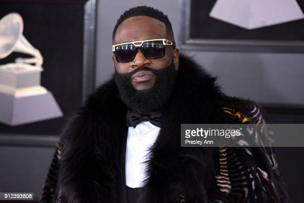 Rick Ross attends the 60th Annual GRAMMY Awards Arrivals at Madison Square Garden on January 28 2018 in New York City