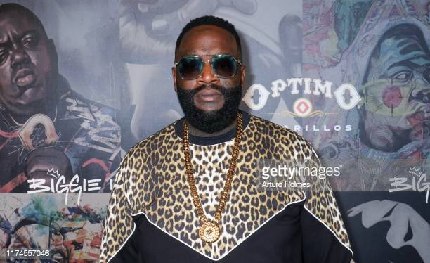 Rick Ross attends the Biggie Inspires Art Exhibit Celebration at William Vale Hotel on September 13 2019 in New York City