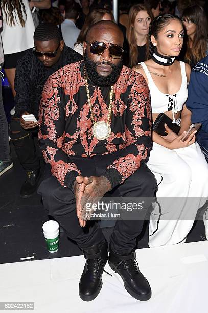 Rick Ross attends the Hood By Air fashion show during New York Fashion Week The Shows at The Arc Skylight at Moynihan Station on September 11 2016 in...
