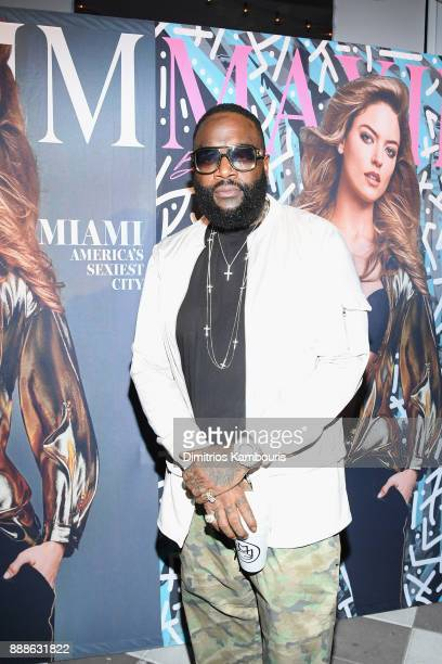 Rick Ross attends the Maxim December Miami Issue Party Presented by blu on December 8 2017 in Miami Beach Florida