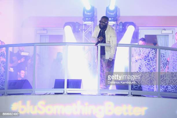 Rick Ross performing on stage during the Maxim December Miami Issue Party Presented by blu on December 8 2017 in Miami Beach Florida