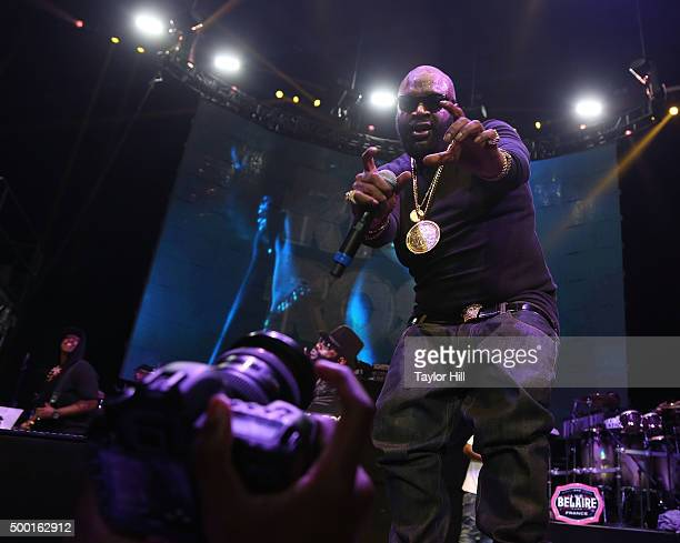 Rick Ross performs during Hot 97's 'Busta Rhymes And Friends Hot For The Holidays' at Prudential Center on December 5 2015 in Newark New Jersey