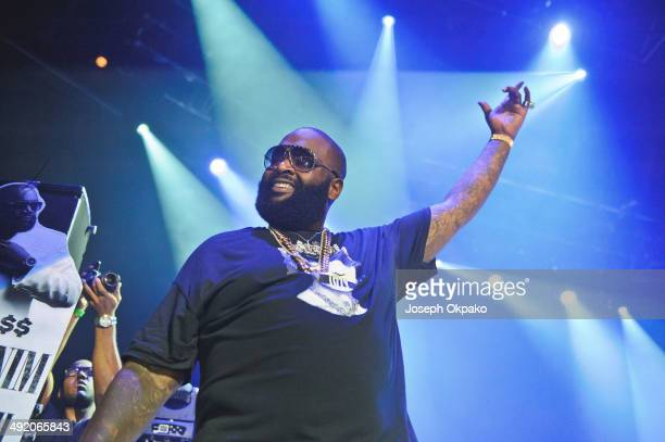 Rick Ross performs on stage at The Roundhouse on May 18 2014 in London United Kingdom