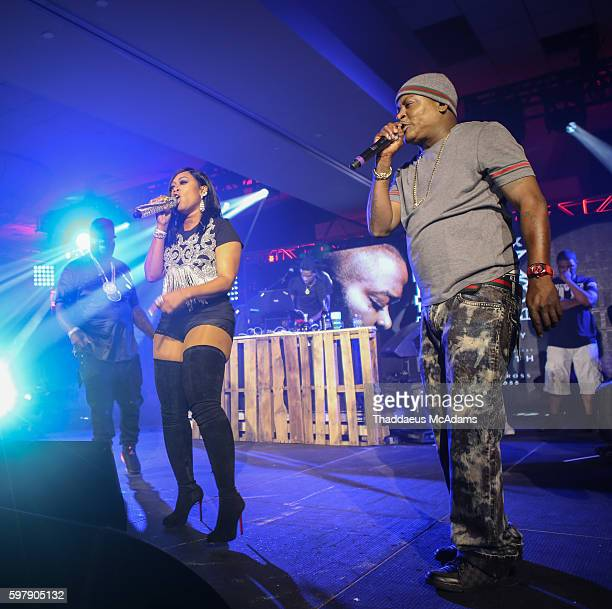 Rick Ross Trina and Trick Daddy perform at Port of Miami concert at Jungle Island on August 29 2016 in Miami Florida
