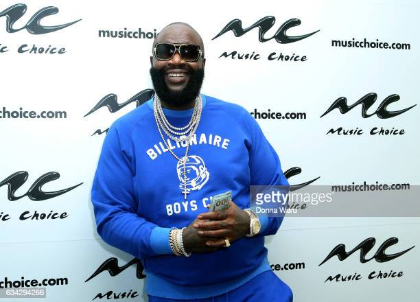 Rick Ross vists Music Choice on February 8 2017 in New York City