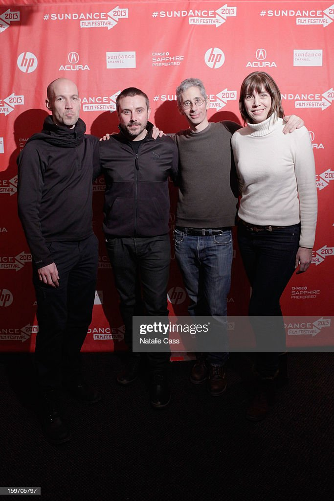 Rick Rowley, Jeremy Scahill, Anthony Arnove and Brenda Coughlin attend the 'Dirty Wars' Premiere during the 2013 Sundance Film Festival at Eccles Center Theatre on January 18, 2013 in Park City, Utah.