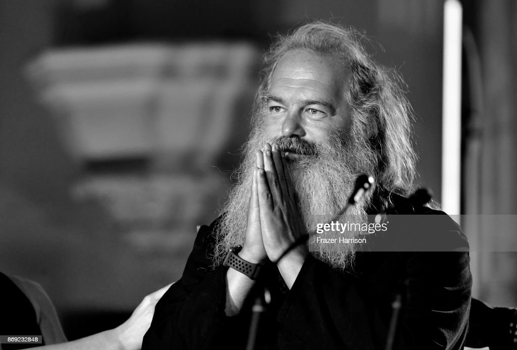 Rick Rubin speaks onstage at Spotify's Inaugural Secret Genius Awards hosted by Lizzo at Vibiana on November 1, 2017 in Los Angeles, California.
