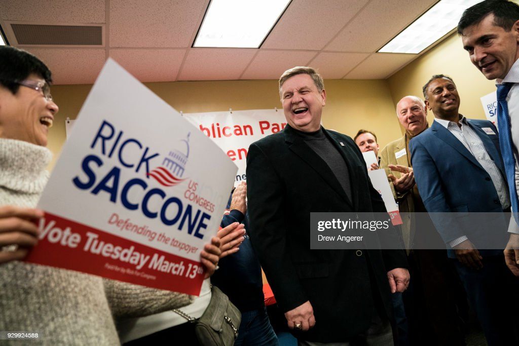 GOP Candidate Rick Saccone Holds Election Rally In Pittsburgh