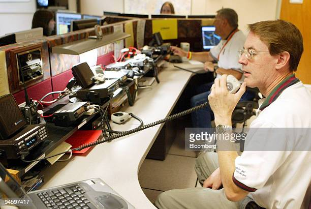 Rick Sagers operates a ham radio at the National Weather Service forecast office in Fort Worth Texas Monday June 26 2006