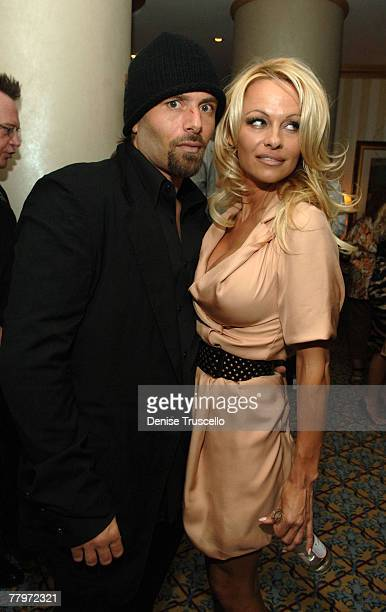 Rick Salomon and actress Pamela Anderson at the Grand Opening of Planet Hollywood Resort Casino Weekend on November 17 2007 in Las Vegas Nevada