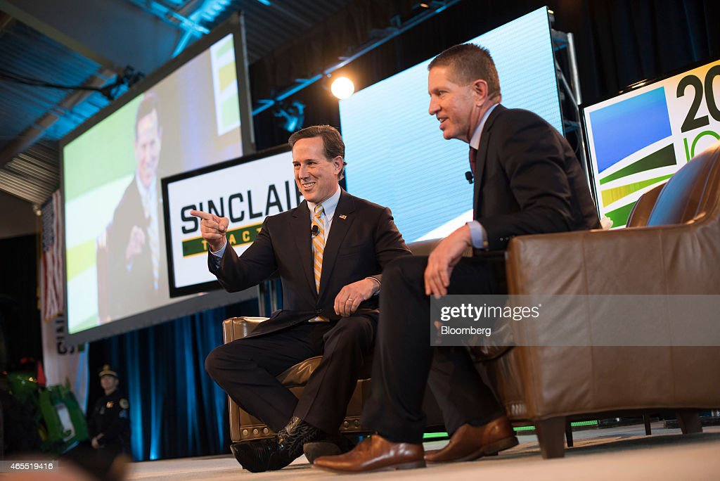 Rick Santorum, former senator of Pennsylvania, gestures during the Iowa Ag Summit at the Iowa State Fairgrounds in Des Moines, Iowa, U.S., on Saturday, March 7, 2015. The event aims to highlight the role that agriculture plays in Iowa and the rest of the world. Photographer: Daniel Acker/Bloomberg via Getty Images