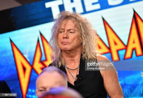Rick Savage of Def Leppard speaks during the press conference for THE STADIUM TOUR DEF LEPPARD MOTLEY CRUE POISON at SiriusXM Studios on December 04...