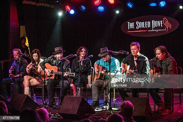 Rick Shea Sarah Borges Christie McWilson Dave Alvin David Olney Robbie Foulks and John Doe are performing during the Dave Alvin's ' West of the West...