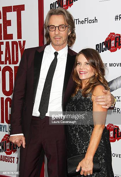 Rick Springfield and Barbara Porter attend Ricki And The Flash New York Premiere at AMC Lincoln Square Theater on August 3 2015 in New York City