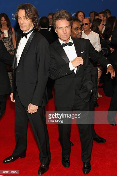 Rick Springfield and Richard Marx attends the 100th Annual White House Correspondents' Association Dinner at the Washington Hilton on May 3 2014 in...