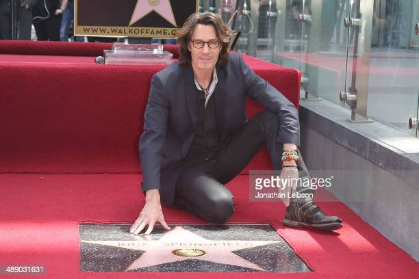 Rick Springfield attends the ceremony honoring him with a Star on The Hollywood Walk of Fame on May 9 2014 in Hollywood California