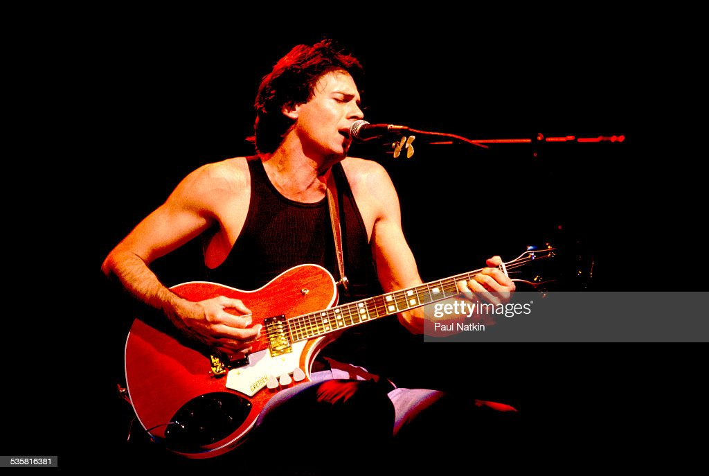 Rick Springfield performing, Chicago, Illinois, July 29, 1985.