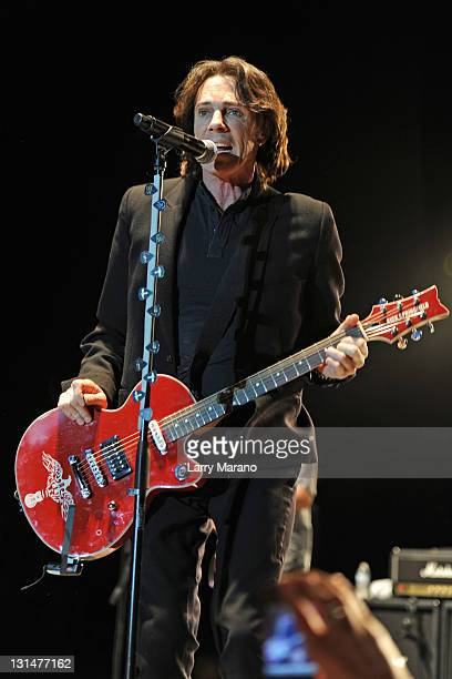Rick Springfield performs at Mizner Park Amphitheatre on November 4 2011 in Boca Raton Florida