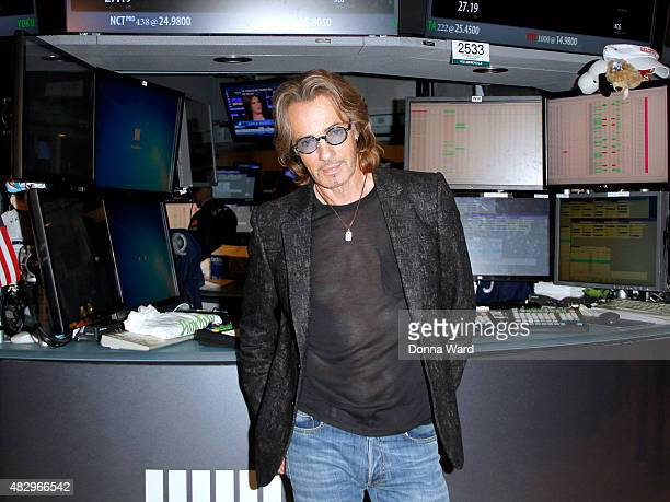 Rick Springfield poses after ringing the bell at New York Stock Exchange on August 4 2015 in New York City