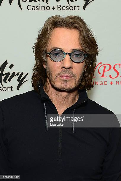 Rick Springfield poses backstage during the 'Stripped Down' tour at Mount Airy Casino Resort on April 18 2015 in Mount Pocono Pennsylvania
