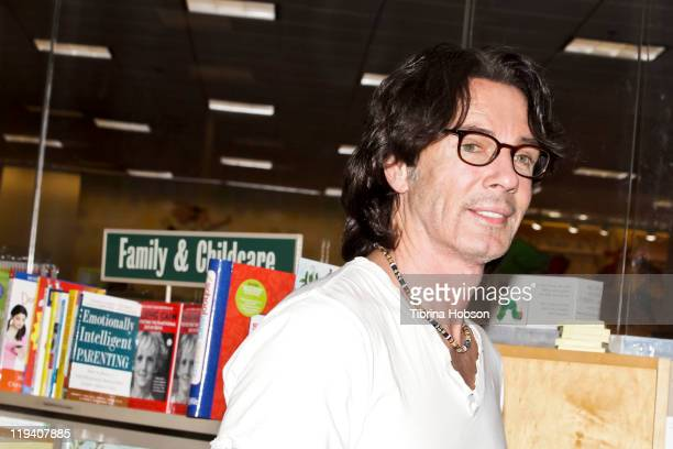 """Rick Springfield signs copies of his new book """"Late, Late At Night"""" at Barnes & Noble Bookstore at The Grove in Los Angeles, California on July 19,..."""