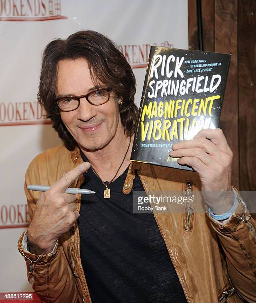 """Rick Springfield visits Bookends Bookstore for his new book """"Magnificent Vibration"""" on May 6, 2014 in Ridgewood, New Jersey."""