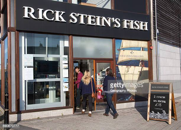 Rick Stein's Fish restaurant famous TV chef Falmouth Cornwall England UK