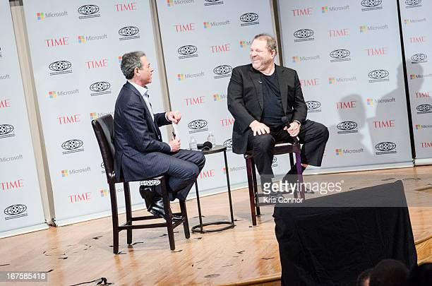 Rick Stengel and Harvey Weinstein speaks during the Creativity Conference atn the Corcoran Gallery of Art on April 26 2013 in Washington DC