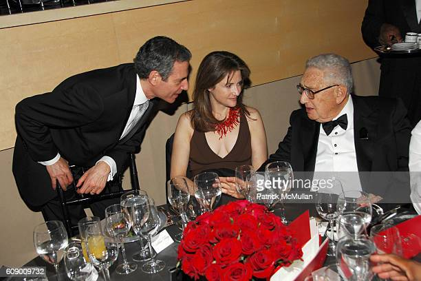 Rick Stengel Betsy Lack and Henry Kissinger attend TIME Magazine's 100 Most Influential People 2007 at Jazz at Lincoln Center on May 8 2007 in New...