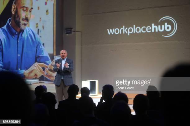 Rick Taylor President and Chief Executive Officer of Konica Minolta Business Solutin USA Inc speaks during Spotlight Live the Konica Minolta...