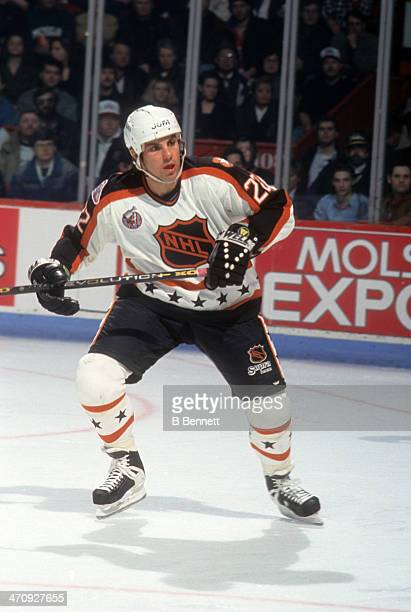 Rick Tocchet of the Wales Conference and the Pittsburgh Penguins skates on ice during the 1993 44th NHL All-Star Game against the Campbell Conference...