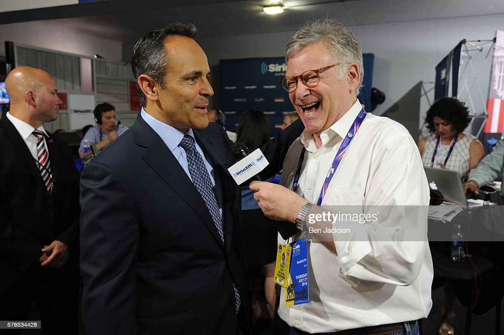 Rick Ungar reacts to a comment made by Kentucky Governor Matt Bevin during an interview on his show Steele and Ungar on SiriusXM POTUS at Quicken Loans Arena on July 21, 2016 in Cleveland, Ohio.