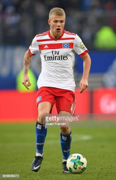 Rick Van Drongelen of Hamburg in action during the Bundesliga match between Hamburger SV and 1 FSV Mainz 05 at Volksparkstadion on March 3 2018 in...