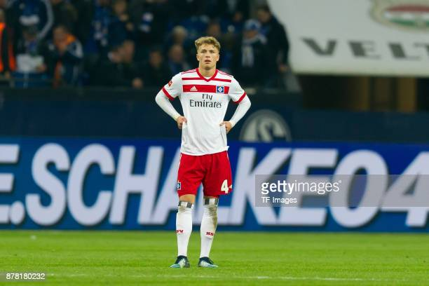 Rick van Drongelen of Hamburg looks dejected during the Bundesliga match between FC Schalke 04 and Hamburger SV at VeltinsArena on November 19 2017...