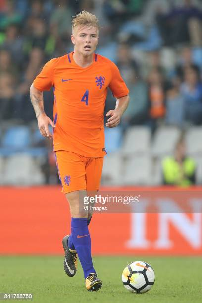 Rick van Drongelen of Holland U21 during the EURO U21 2017 qualifying match between Netherlands U21 and England U21 at the Vijverberg stadium on...