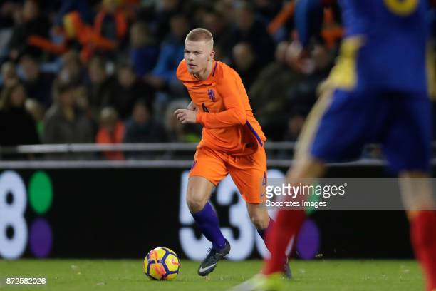 Rick van Drongelen of Holland U21 during the match between Holland U21 v Andorra U21 at the De Vijverberg on November 10 2017 in Doetinchem...