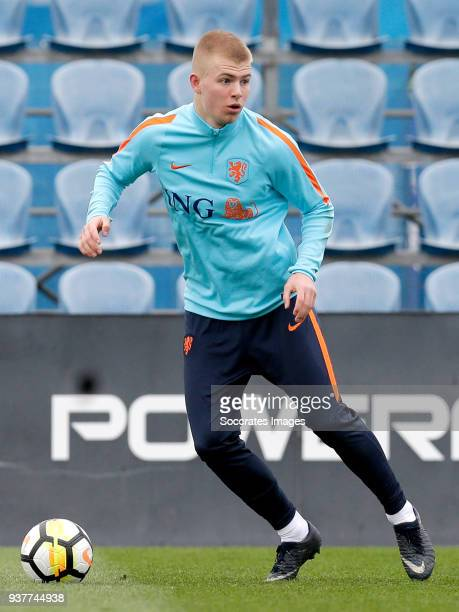 Rick van Drongelen of Holland U21 during the Training Holland U21 at the Ciutat Esportiva Dani Jarque on March 25 2018 in Mataro Spain