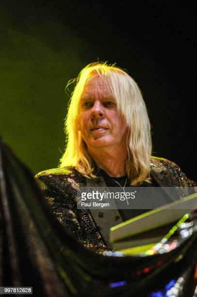 Rick Wakeman keyboardist of British progressive rock band Yes performs at Ahoy Rotterdam Netherlands 24 July 2003