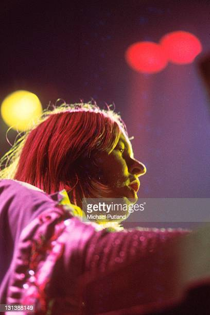 Rick Wakeman of Yes performs on stage London 1973