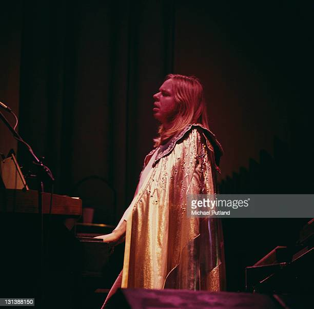 Rick Wakeman of Yes performs on stage London 1974