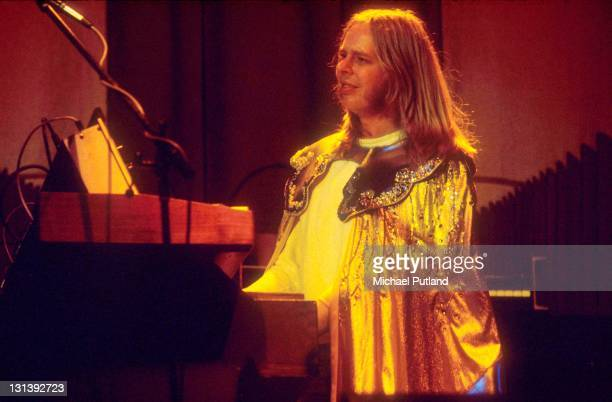 Rick Wakeman performs on stage London 1976
