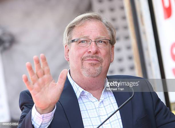 Rick Warren attends the ceremony honoring Roma Downey with a Star on The Hollywood Walk of Fame held on August 11, 2016 in Hollywood, California.