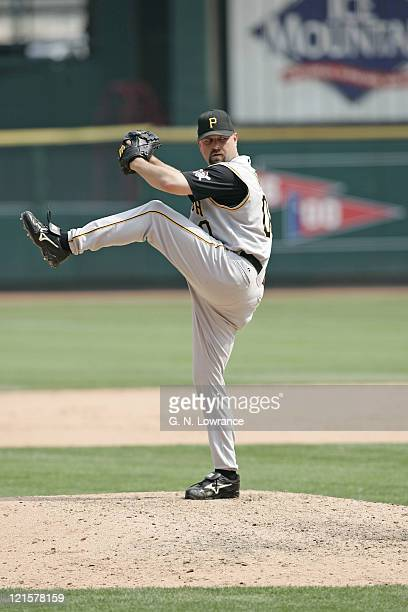 Rick White of the Pittsburgh Pirates pitches during a game against the St Louis Cardinals at Busch Stadium in St Louis Mo on June 26 2005 Pittsburgh...