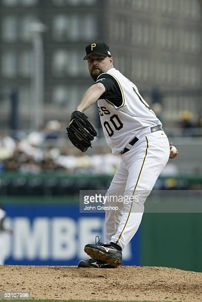 Rick White of the Pittsburgh Pirates pitches during the game against the Florida Marlins at PNC Park on May 30 2005 in Pittsburgh Pennsylvania The...