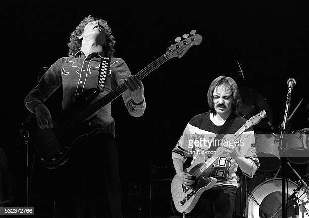 Rick Wills and Steve Marriott of The Small Faces performing on stage, London, United Kingdom, 1977.
