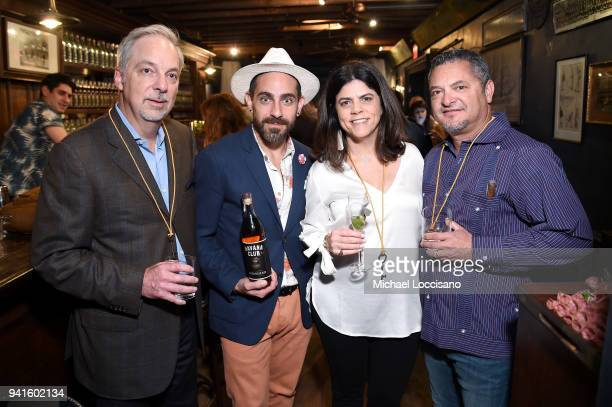 Rick Wilson Gio Gutierrez Paola Arechabala Consuegra and Roger Consuegra attend an immersive theatrical experience 'Amparo' presented by HAVANA CLUB...